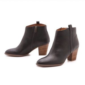 Madewell Black Leather Billie Ankle Boots 9